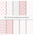 Seamless patterns with dots vector image vector image