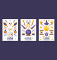 set banners with magic game icons vector image