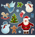 set christmas elements vector image vector image