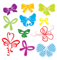 Set of different colors bows vector image
