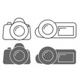set of icons camera sign and the camcorder symbol vector image