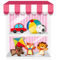 Set of puppets and toys vector image vector image