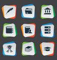 set simple reading icons vector image vector image