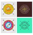 set summer camp badges concept for shirt or vector image