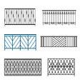 Steel Balcony Rails vector image vector image