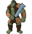 strong orc with sword vector image vector image