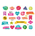 super sale modern hand drawn stickers and tags vector image vector image