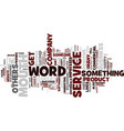 the power of word of mouth text background word vector image vector image