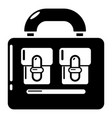 travel bag vintage icon simple black style vector image