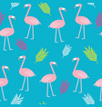 trendy flamingo colorful cute pattern vector image