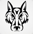 Tribal Wolf Face