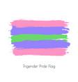 trigender lgbt watercolor flag vector image vector image