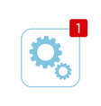update icon concept in flat style vector image vector image