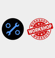 wrench and nuts icon and scratched workshop vector image vector image