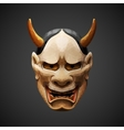 low poly mask Noh theater Hannya Side light vector image