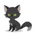 a cute happy cartoon black cat vector image