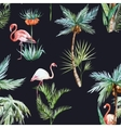 Watercolor palm pattern vector image