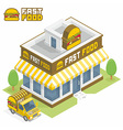 Fast Food building vector image
