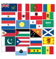 set of 24 flags countries started with P Q R S vector image