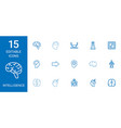 15 intelligence icons vector image vector image