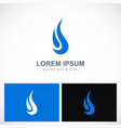 abstract water drop company logo vector image vector image