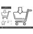add to shopping cart line icon vector image vector image