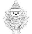 adult coloring bookpage a cute cartoon hedgehog vector image vector image
