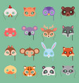 animals carnival kids mask set festival vector image