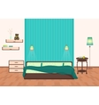 Beautiful modern Bedroom interior cartoon vector image vector image