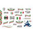 Big set of italian ribbons symbols icons