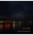 Blurred defocused lights of night city vector image