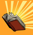 book shines light of knowledge vector image vector image