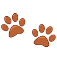 Brown Paw Prints vector image vector image