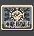car service wrenches and tire vector image vector image