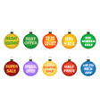 christmas balls with promotional offers vector image vector image