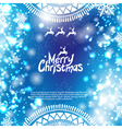 Christmas bokeh background vector image vector image