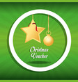 christmas voucher design vector image vector image