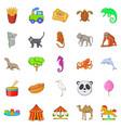 Circus icons set cartoon style