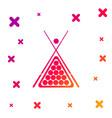 color billiard cue and balls in a rack triangle vector image vector image