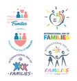 colorful design international day families vector image vector image