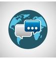 concept globe chat speech social media vector image vector image