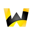 creative yellow and black symbol letter w for your vector image vector image