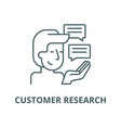 customer research line icon linear concept vector image vector image
