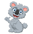 cute koala cartoon presenting vector image