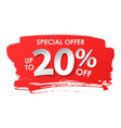 discount 20 percent in paper style vector image vector image