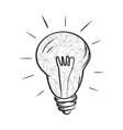 electric bulb sketch with abstract light vector image vector image
