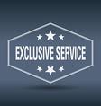 exclusive service hexagonal white vintage retro vector image vector image