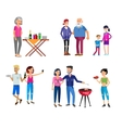 Family picnic Bbq party Food and barbeque vector image vector image