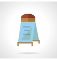 Flat color sandwich board icon vector image vector image