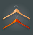 graphic realistic wooden coat hanger vector image